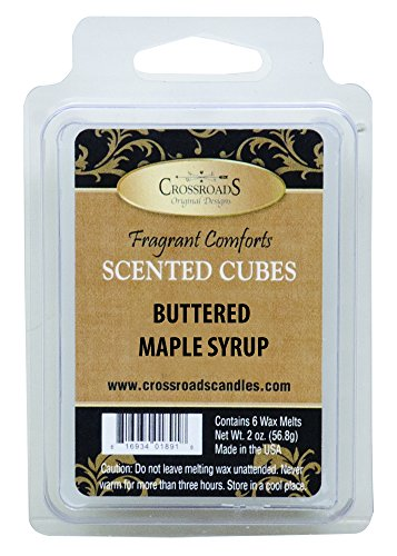 Crossroads Buttered Maple Syrup Scented Cubes, 2oz -