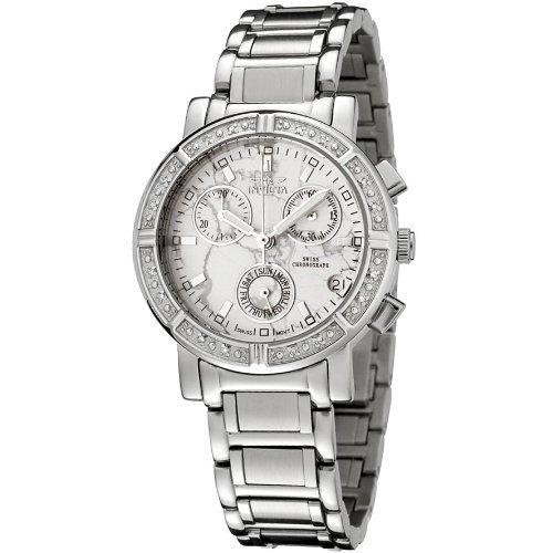 Invicta Women's 0280 Angel Collection Diamond Accented Chronograph - Diamond 16 Watch Chronograph