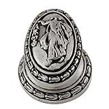 Vicenza Designs K1030 Sforza Woman Oval Knob, Large, Antique Nickel