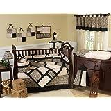 Animal print Safari Jungle Baby Boy or Girl Unisex Neutral Bedding 9pc Crib Set by Sweet Jojo Designs