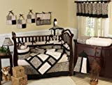 Sweet Jojo Designs Animal Print Safari Jungle Baby Boy or Girl Unisex Neutral Bedding 9pc Crib Set