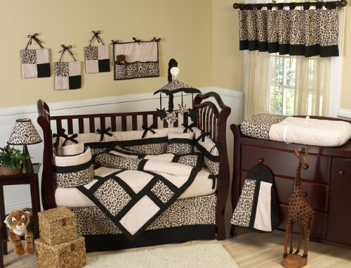 Animal print Safari Jungle Baby Boy or Girl Unisex Neutral Bedding 9pc Crib Set by Sweet Jojo - Snooki Shades