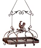 rooster pots - Malibu Creations 12657 Country Rooster Kitchen Rack