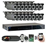 GWSecurity 16CH400WHD 16 Channel DVR + 16 x 1000TVL (720P) Vari-Focal Zoom 147 feet IR Outdoor / Indoor Security Camera System with Pre-Installed 2TB Hard Drive Review