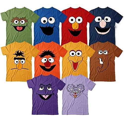 Sesame Halloween Costume Matching Funny Street Style Customized Handmade T-Shirt Hoodie/Long Sleeve/Tank ()