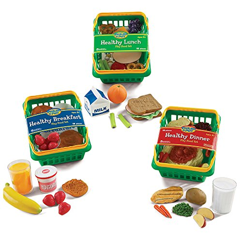 Foods Play Dinner Basket (Learning Resources Healthy Foods Playset)