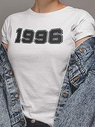 عتيق تيشيرت1996 بلايز نسائي قطن، ابيض، L