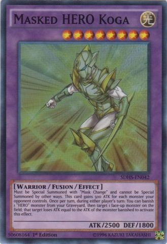 Yu-Gi-Oh! - Masked HERO Koga (SDHS-EN042) - Structure Deck: HERO Strike - 1st Edition - Super Rare by Yu-Gi-Oh! Konami