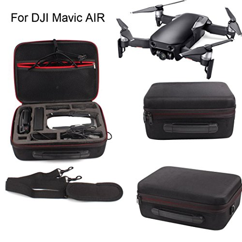 Inverlee Hardshell Shoulder Waterproof Box Suitcase bag for DJI Mavic AIR RC Quadcopter (Black) by Inverlee