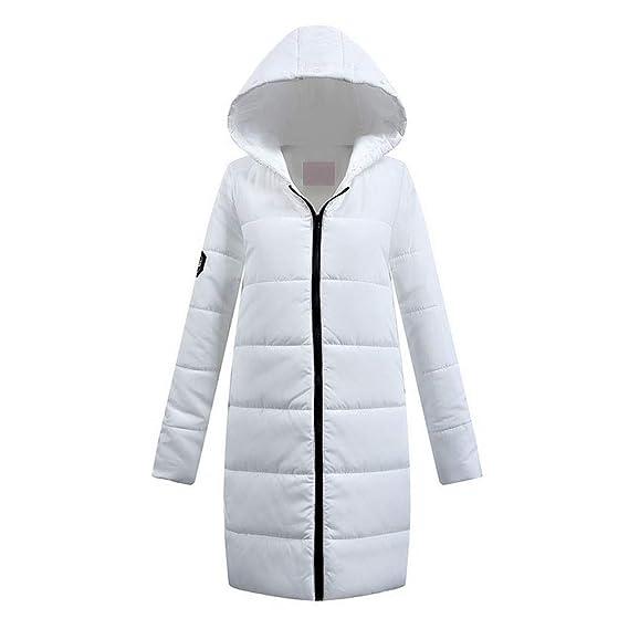 Damen Winter dick Weiß Mantel, Quaan Lange Niedrig Baumwolle