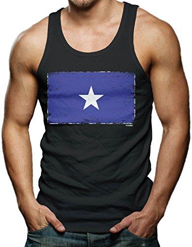 Civil War Confederate Flag Men's Tank Top T-shirt (3XL, BLACK)