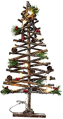 /Decoraci/ón de Navidad Mesa Decoraci/ón Natural Madera /Árbol Decorativo Plegable Spetebo Madera /Árbol de Navidad 55/cm/