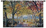 Fine Art Tapestries ''Autumn Path'' Wall Tapestry