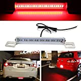 iJDMTOY (1) Universal Fit Brilliant Red 24-SMD LED Light Bar For Car As Rear Fog Light or 3rd Brake Tail Lamp