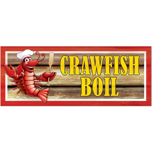 [Crawfish Boil Sign Party Accessory (1 count)] (Crawfish Costumes)