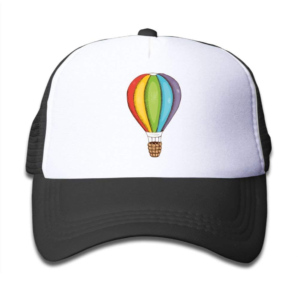 Mesh Baseball Caps Toddler Rainbow Hot Air Balloons Classic Adjustable