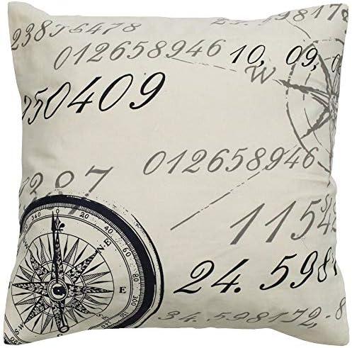 Rizzy Home T04960 Decorative Pillow, 20 X20 , Cream
