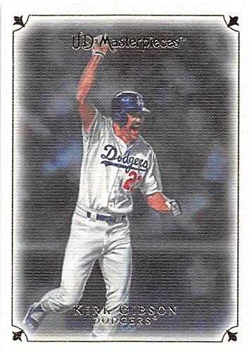 Kirk Gibson baseball card (Los Angeles Dodgers 1988 World Series Home Run) 2008 Upper Deck Masterpieces #6