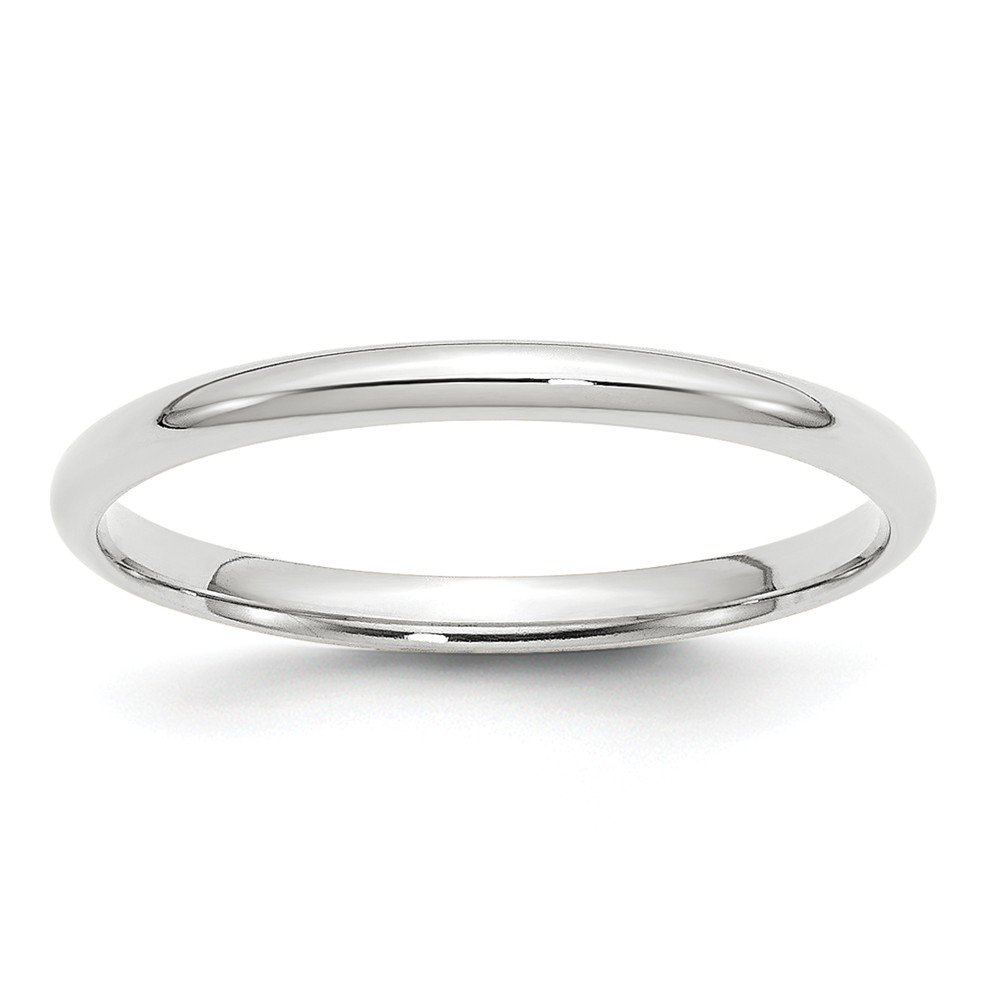 14KW 2mm LTW Comfort Fit Band Size 6 Size 6 Length Width 2