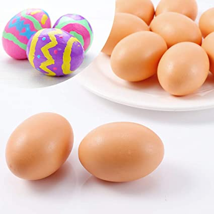 5pcs Fake Artificial Eggs Kitchen Decorative Kids Play DIY Toys Painting Crafts