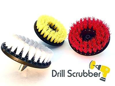 Drill Scrubber - 3 Pack - Drill Brush, Drill Brush Attachment, Drill Brush, Cordless Drill Brush, Brush For Drill