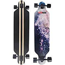 MAGIC UNION 41 Inch Maple Drop Down Longboard Complete Skateboard