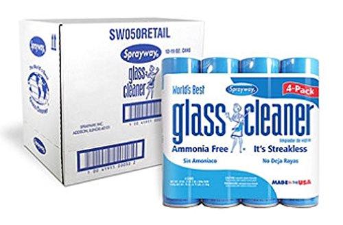 Sprayway Glass Cleaner Aerosol Spray, 19 oz (Pack of 24)