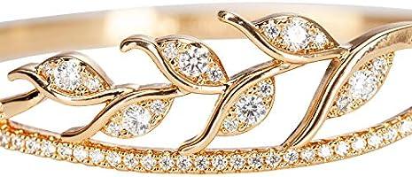 Hinged Bangle Bracelet Cubic Zirconia Fashion Ladies Jewelry DHMK Gold Bangle Bracelet for Women Girls Birthday Wedding Anniversary Fashion Jewelry Gifts