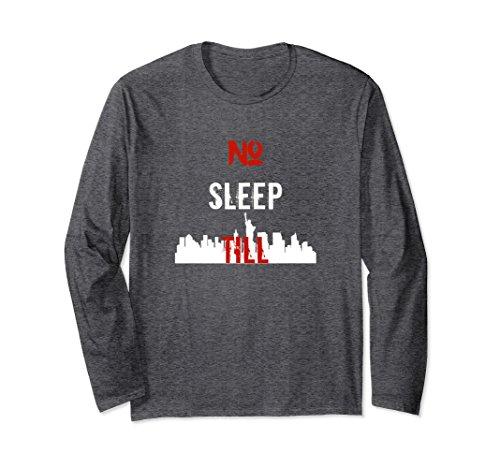Unisex No Sleep Till, New York, Skyline, Brooklyn Tshirt 2XL Dark Heather - Cult Costume Ideas