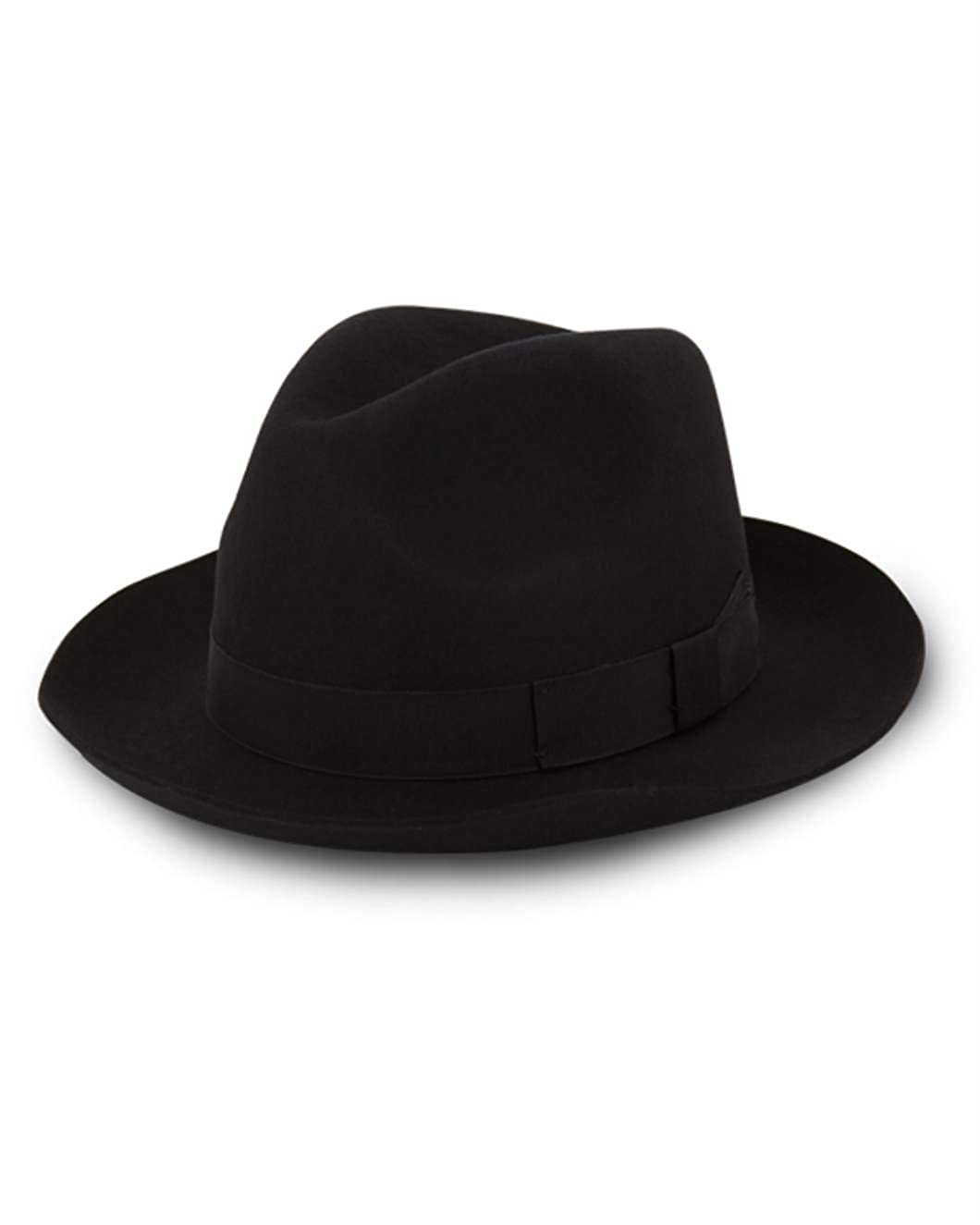 Christys of London Chepstow 100/% Wool Black Trilby Hat-62