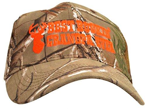 Best Buckin Grandpa Hat Deer Hunting Embroidered Cap Gift Grandpa Dad Realtree