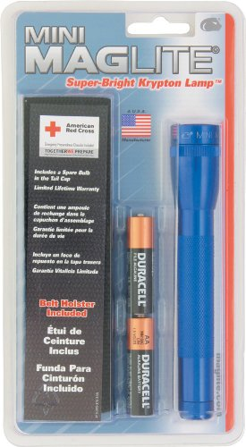 Maglite Mini Incandescent 2-Cell AA Flashlight with Holster, ()