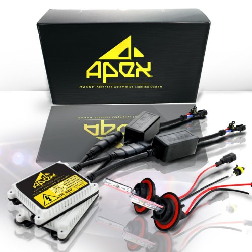 Apex 9006 / HB4 ( 6k 6000k Diamond White ) Xenon Hid Conversion Kit with Slim Ignitor Digital Ballasts Hids lights kits HID Kit - 2 Year Warranty