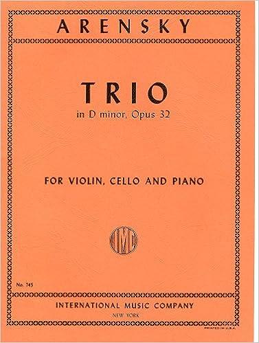 アレンスキー : ピアノ三重奏曲 ...