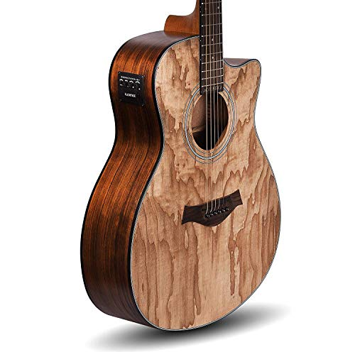 Kadence Acoustica Series,Semi Acoustic Guitar Ash Wood with Equlizer