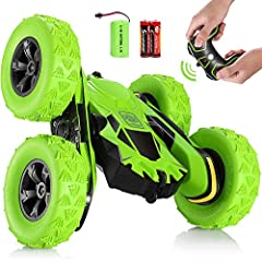 Description Are you looking for a realistic powerful racing car to keep your child entertained as he grows up? The SGILE Racing Stunt RC Car is the perfect gift for your child. The racing car is easy to carry and has a bunch of cool and ins...