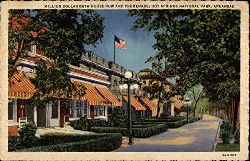 Million Dollar Bath House Row and Promenade Hot Springs National Park, Arkansas Original Vintage Postcard
