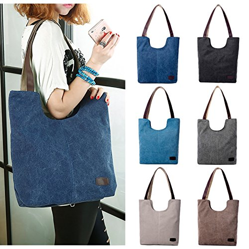 Bag Tote Shoulder Women's Casual Vintage Black Fanspack Work Top Hobo Bag Handle Bag Shopping Bag qOxpE