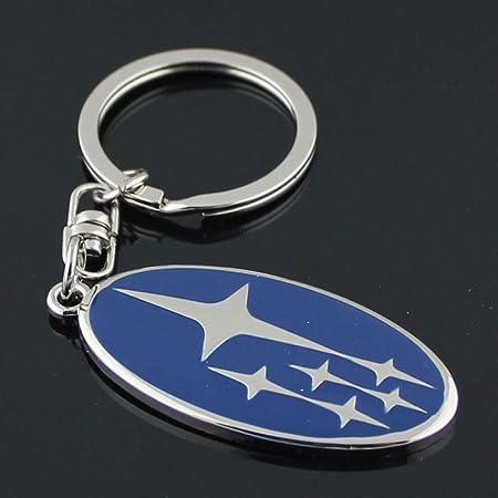 acciaio inox//ottone//titanio//blued - tutto fatto a mano acciaio blu Portachiavi Subaru FORTILLO