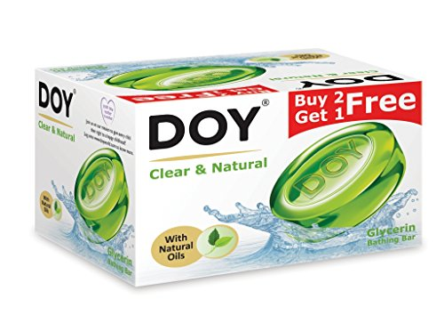Doy Glycerin Transparent Clear and Natura Soap (125g) (Pack of 3)