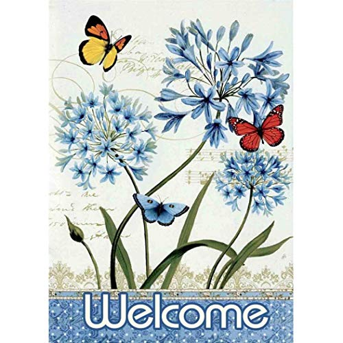 Bokeley Welcome Butterfly Garden Flag Garden Decoration 12.5 x 18inch (Multicolor)]()