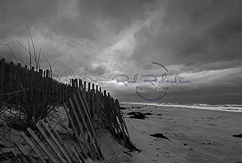 Stormy Skies Westhampton Beach Long Island NY 8x10 matted b/w photo (Ny Beach Long Island)