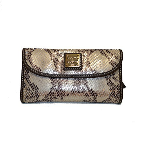 [Dooney & Bourke Python emb leather continental clutch TV507 PW] (Dooney & Bourke Fully Lined Wallet)