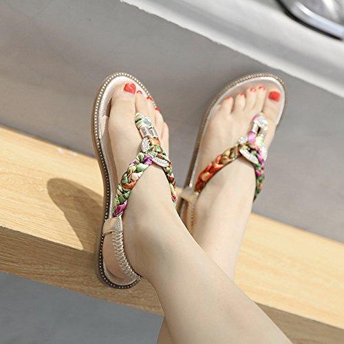 spina del sandali all'aperto pesce spiaggia di del I scarpe a modo modo da decorativi di D modo antiscivolo ricoprono di metallo di YMFIE di rhinestone estate le zt5qwgt