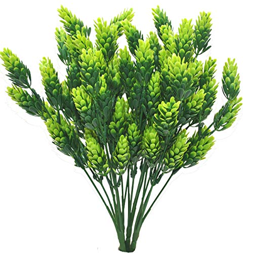 Artificial Plant Hops 4 Bundle Flower Garland Plants Fake Hops Leaves Shrubs Simulation Artificial Flowers for Indoor Outdoor Home Party Decor Greenery