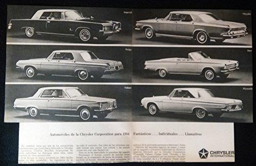 1964 CHRYSLER INTERNATIONAL: IMPERIAL - CHRYSLER - DODGE - DART - VALIANT - PLYMOUTH