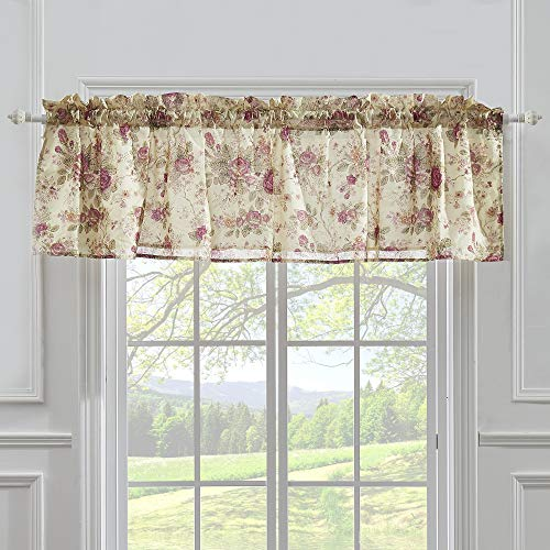 Greenland Home Antique Rose Valance, 84 by 21-Inch