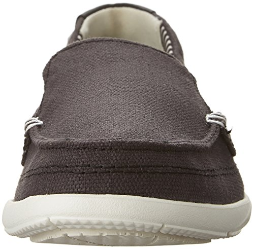 Crocs Damen Walu Canvas Loafer Schwarz / Oyster
