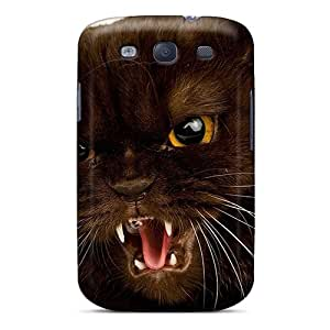 Special HHaroldshon Skin Case Cover For Galaxy S3, Popular Angry Cat Phone Case