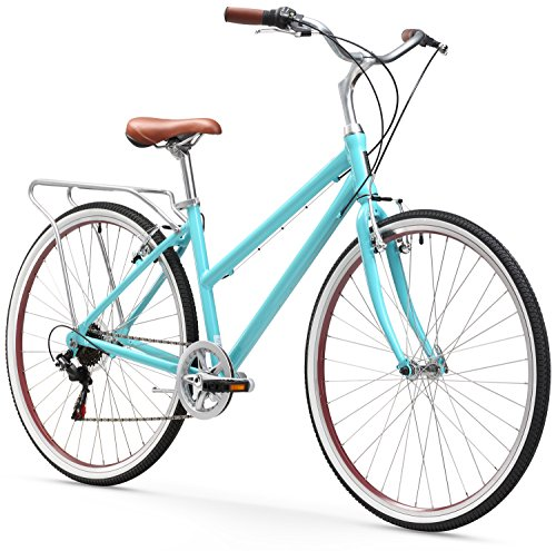 sixthreezero Explore Your Range Women's 7-Speed Hybrid Commuter Bicycle, Teal, 17